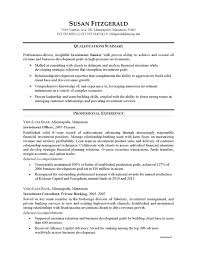 Sample Resume For Experienced Banking Professional Earpod Co