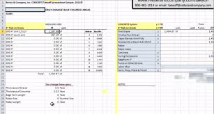 software concrete estimating software concrete