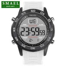 <b>SMAEL Luxury</b> Brand Mens Sports <b>Watches</b> Dive 30m <b>Digital</b> LED ...