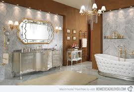 Romantic Master Bathroom Ideas Golden Chandeliers H Intended