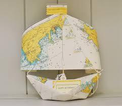 Boat Chart Nautical Chart Paper Boat Keepsake