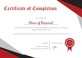 Certificate Of Completeion Modern Certificate Of Completion Template