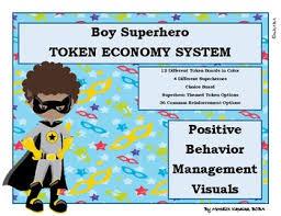 African American Boy Superhero Token Economy Positive Reinforcement Reward Chart