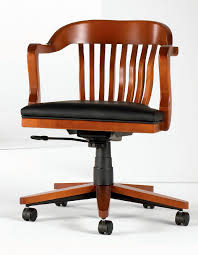 classic office chair. Classic Office Armchair / Wooden Leather Adjustable-height - BANK OF ENGLAND Chair I