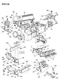 1990 chrysler town country engine mounting diagram 000005m0 show parts list