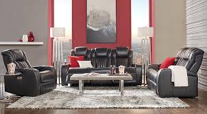 black leather living room furniture. Shop Now. Servillo Black Leather 2 Pc Living Room Furniture