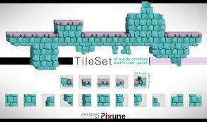 Design Tiles Game Side Scrolling Platformer Game Tilesets Stone Style
