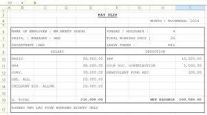 Salary Slip Format In Excel Sheet Download Export Invoice Free Get