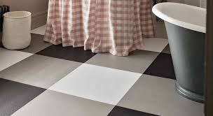 stylist marisa daly used luxury vinyl tiles from our urban collection to create large scale gingham patterned bathroom flooring