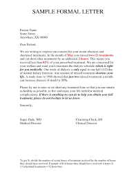formal letter example writing a formal letter example letters free sample letters