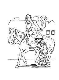 Kleurplaat Sinterklaas En Zwarte Piet Gaan De Huizen Langs