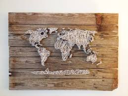 featured photo of string map wall art on diy string map wall art with 2018 latest string map wall art