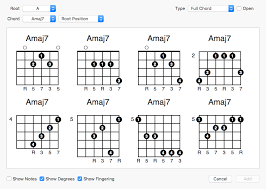 Chord Chart Builder Fretspace Guitar Chord And Scale Editor For Mac