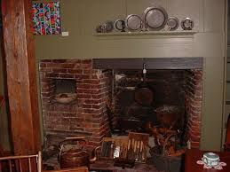 18th century america fireplace and bake oven
