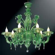 giada green murano glass chandelier