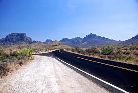 desert road mountain landscape texas national park wallpaper and background