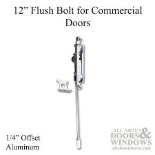 entry door hardware parts. Double Door Hardware Parts Bolt 12 Inch, 1/4bs Commercial Doors - Aluminum Entry D