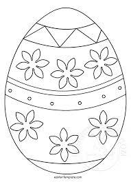Printable Easter Egg Template Easter Template
