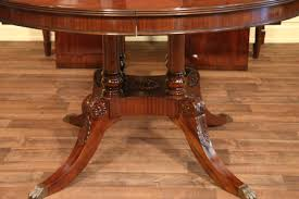 54 round dining table carved