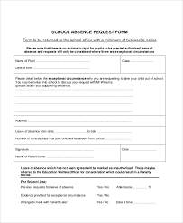 Absence Form Leave Of Absence Form Template Insaat Mcpgroup Co
