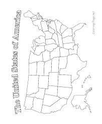 Coloring Page Of The United States United States Map For