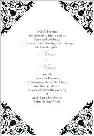 Cute Wedding Invitation Templates Reception Post Free Template
