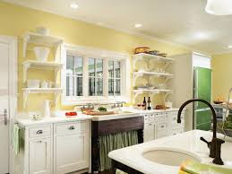 painted kitchen shelves