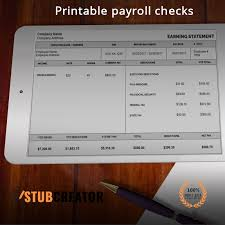 Pay Stubs Maker Online Pay Stub Now Available In Printable Format