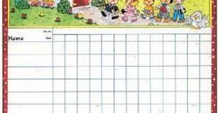 Sunday School Attendance Chart Free Printable Room Surf Com Free Business Template