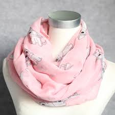 <b>WINFOX 2018 New</b> Fashion Pink Cute Cat Infinity Scarf For Womens
