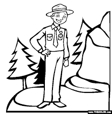 zookeeper coloring page. Interesting Coloring Park Ranger Coloring Page For Zookeeper O