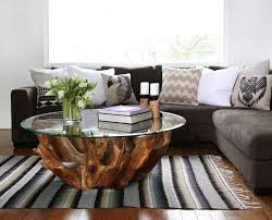 natura root round coffee table condo size