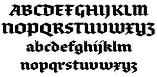 Contemporary Blackletter Fonts