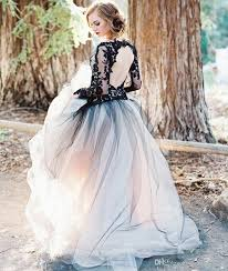 discount victorian gothic wedding dress black and white a line