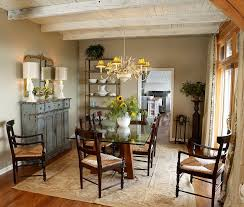 dining table hutch. weathered buffet and antique mirror give the cozy dining room a shabby chic look [design table hutch