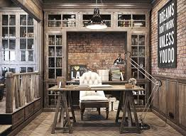 home officevintage office decor rustic. Home Office In Rustic Style. Vintage For A Private Residence Denis Krasikov - Www. Officevintage Decor M