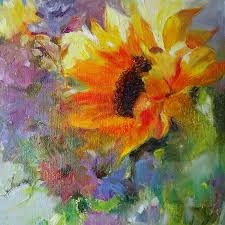 sunny side up sunflower oil painting by a b deneweth