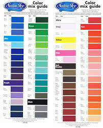 Satin Ice Fondant Colour Mixing Chart In 2019 Satin Ice