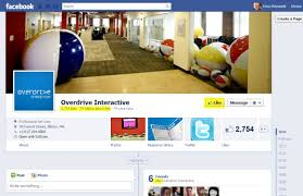 business page on facebook in the new timeline overdrive interactive