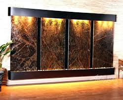bronze with mirror wall waterfall fountain mounted water fountains