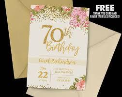 70th Birthday Invitation Cards 14 70th Birthday Invitation Card