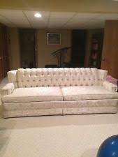 white vintage couch. Vintage Mid Century Berne Furniture White Tufted SOFA Couch