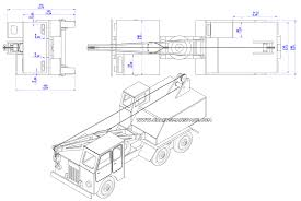 truck crane model plan assembly drawings 2