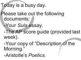"ap literature and composition ""it s a moody monday ""  please take out the following documents your sula"