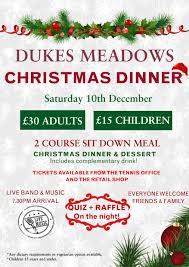 christmas dinner poster poster for website dukes meadows