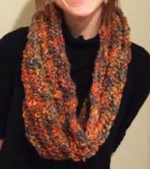 Knitted Scarf Patterns Using Bulky Yarn Gorgeous Rustic Glam Infinity Scarf AllFreeKnitting