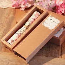 Kraft Boxed Scroll Wedding Invitations Card Of Customised Printing