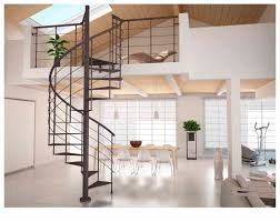 ... Excellent Picture Of Home Interior Decoration Using Various Indoor Spiral  Staircase : Endearing Image Of Home ...
