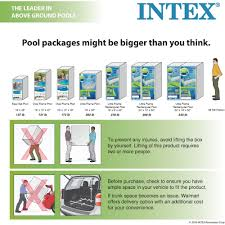 intex 12 x 30 metal frame above ground swimming pool with filter pump walmart