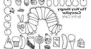 Very Hungry Caterpillar Coloring Page F5to Hungry Caterpillar